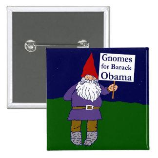 Gnomos para el botón cuadrado de Barack Obama Pins