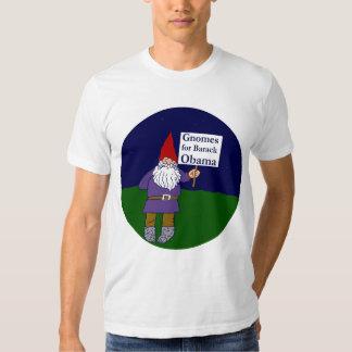 Gnomos para la camiseta de Barack Obama Playeras