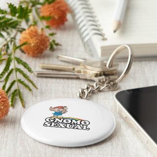 Gnomosexual Basic Round Button Keychain