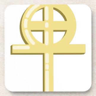 Gnostic Cross Beverage Coaster