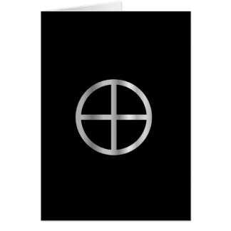 Gnosticism Sun cross Card