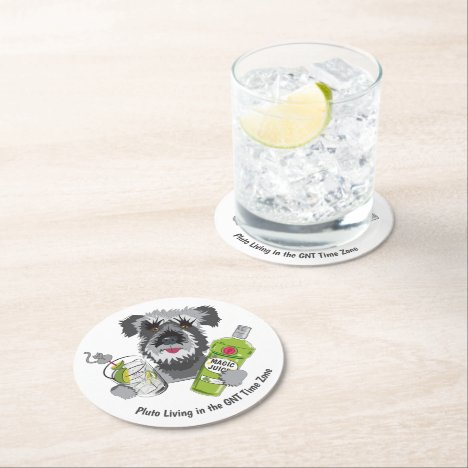 GNT Time Zone Round Paper Coaster