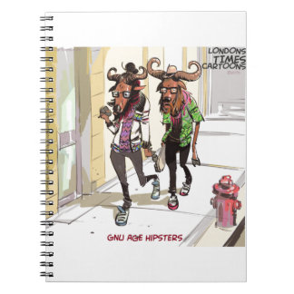 Gnu Age Hipsters Rick London Funny Notebook