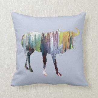 Gnu art throw pillow