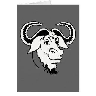 GNU clásico Tarjeta De Felicitación