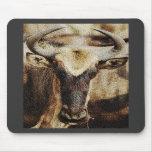 Gnu/efecto texturizado wildebeest de la piedra are tapetes de ratones