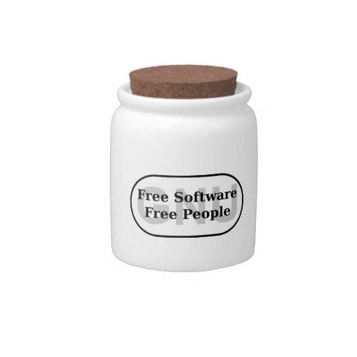 GNU - Free Software - Free People Candy Jars