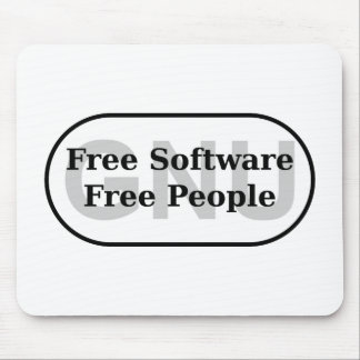 GNU - Free Software - Free People Mouse Pad
