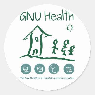 GNU Health steakers Classic Round Sticker