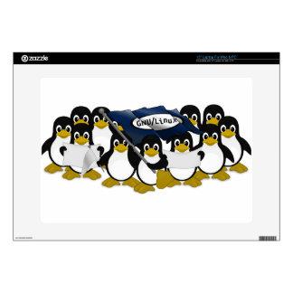 """GNU/Linux! 15"""" Laptop Decals"""