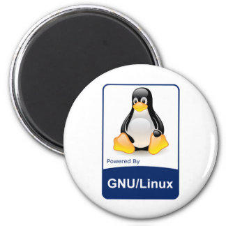 GNU/Linux 2 Inch Round Magnet