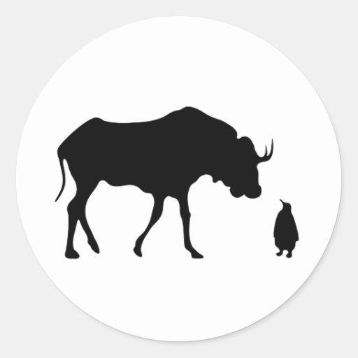GNU Linux (black) Classic Round Sticker