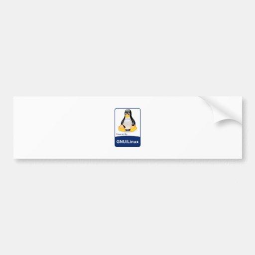 GNU/Linux Car Bumper Sticker
