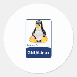 GNU/Linux Classic Round Sticker