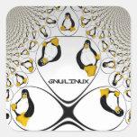 GNU/Linux Fractal Sticker