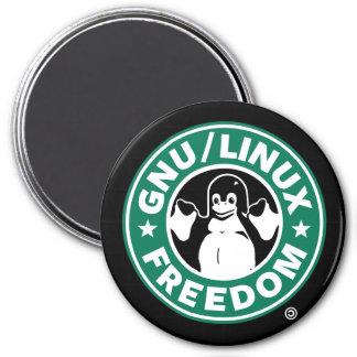 Gnu Linux Freedom Magnet