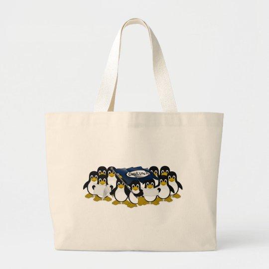 GNU/Linux! Large Tote Bag