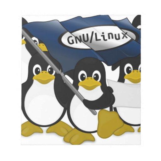 GNU/Linux! Memo Note Pads