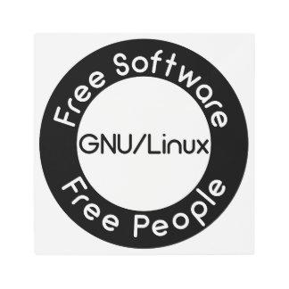 GNU/Linux Metal Print
