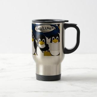 GNU/Linux! 15 Oz Stainless Steel Travel Mug