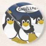 ¡GNU/Linux! Posavasos Diseño