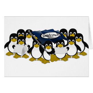 ¡GNU/Linux! Tarjeta De Felicitación