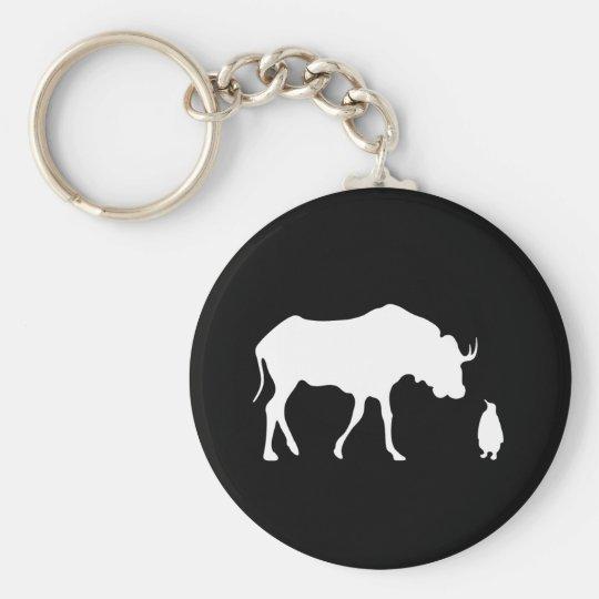 GNU + Linux (white) Keychain