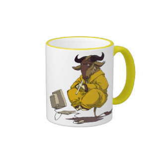 Gnu meditate levitate ringer coffee mug