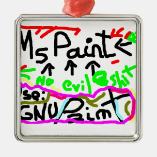 GNU Paint! Metal Ornament