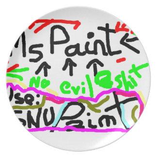 GNU Paint!!!! Platos Para Fiestas