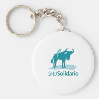 Gnu Solidario Keychain
