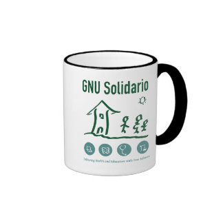 GNU Solidario Mug Tazas