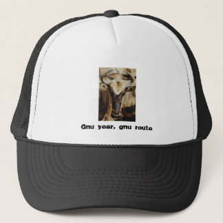 Gnu / wildebeest - gnu year, gnu route trucker hat
