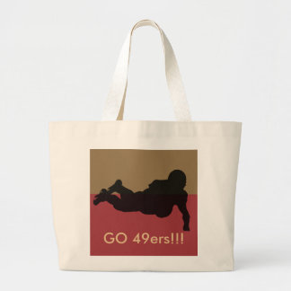 Go 49ers!!! large tote bag