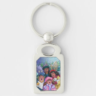 Go a Caroling Illustration Keychain