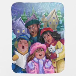 Go a Caroling Illustration Receiving Blanket