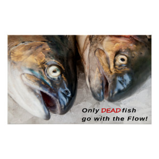 GO AGAINST THE FLOW . . . POSTER