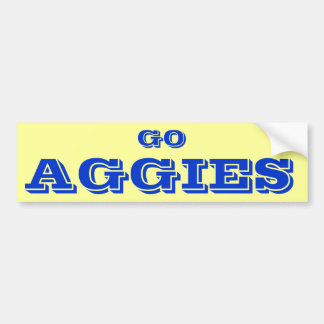 Go Aggies* Bumper Sticker