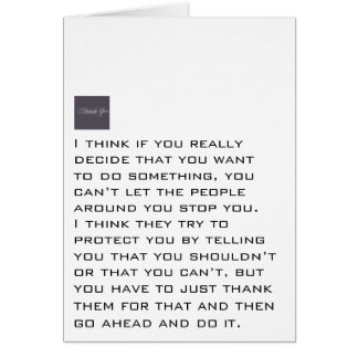 Go Ahead And Do It Stationery Note Card