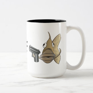 """Go Ahead, Bait Your Hook"" Two-Tone Coffee Mug"
