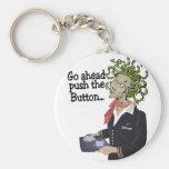 go ahead basic round button keychain