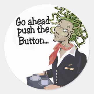 go ahead classic round sticker