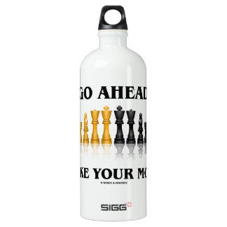 Go Ahead Make Your Move (Reflective Chess Set) Aluminum Water Bottle