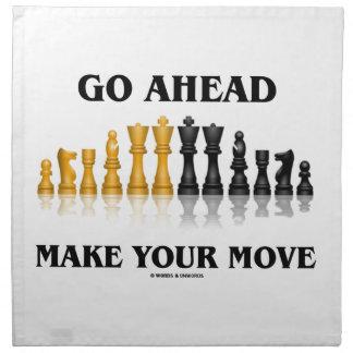 Go Ahead Make Your Move (Reflective Chess Set) Cloth Napkin