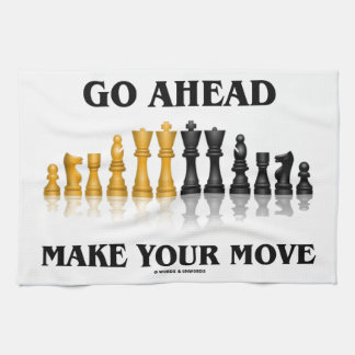 Go Ahead Make Your Move (Reflective Chess Set) Hand Towel