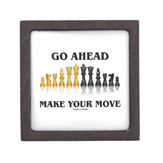 Go Ahead Make Your Move (Reflective Chess Set) Keepsake Box