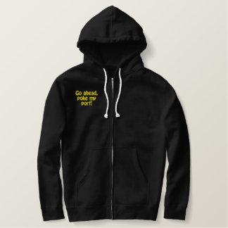 Go ahead,poke my port! embroidered hoodie