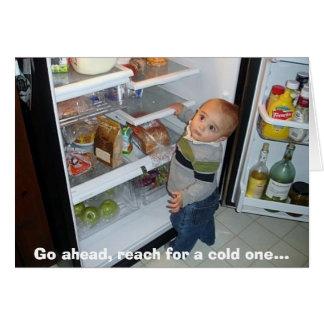 Go ahead, reach for a cold one... card