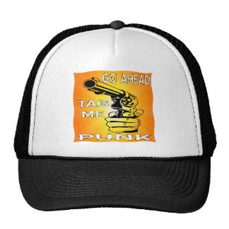 Go Ahead Tag Me Punk w/ Gun Trucker Hat