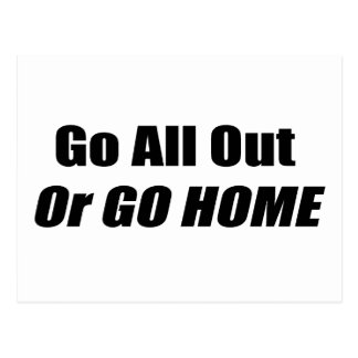 Go All Out Or Go Home By Gear4gearheads Postcard